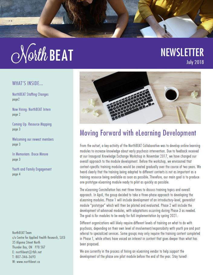 NorthBEAT Collaborative Newsletter: July 2018