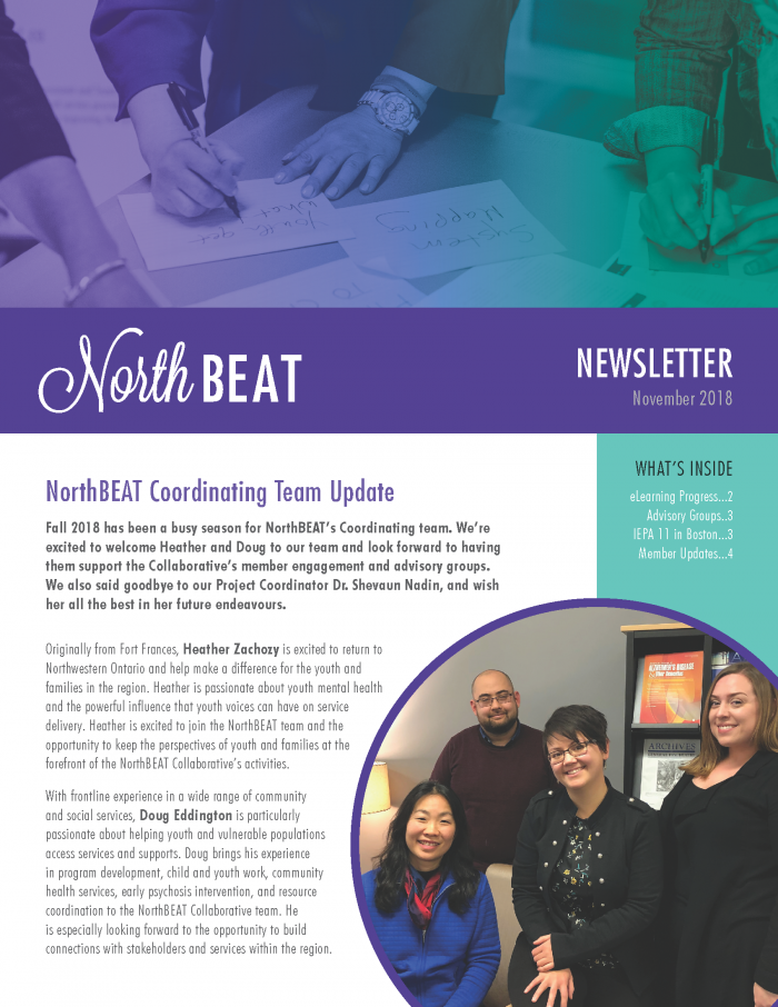 NorthBEAT Collaborative | #northbeatcollab | Newsletter, November 2018