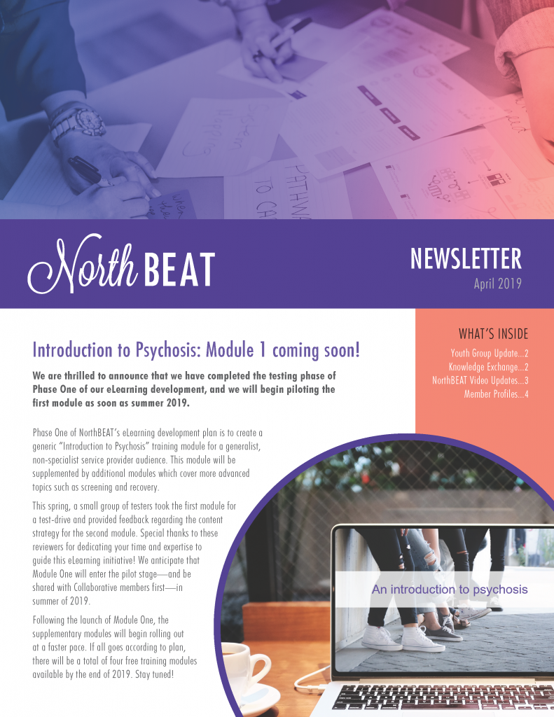 NorthBEAT Collaborative | #northbeatcollab | Newsletter, April 2019