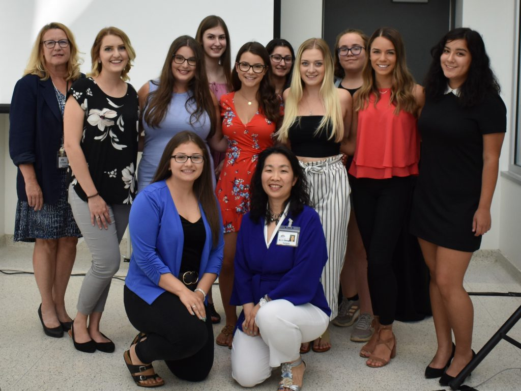 NorthBEAT Youth Advisory Group: August 15, 2019 event. Pictured: Nancy Black, Vice President Addictions & Mental Health, St. Joseph's Care Group (left), and Dr. Chi Cheng, NorthBEAT Collaborative Lead (front, right), with members of the NorthBEAT Youth Advisory Group. Photo: Angie Tocheri